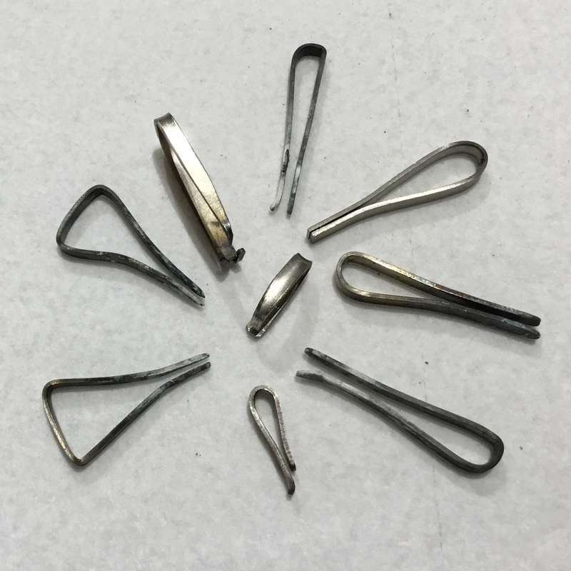 Metalsmithing: Transition Your Studio to Titanium - Titanium clips