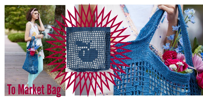 Practice Filet Crochet with This Cute Market Bag Kit!