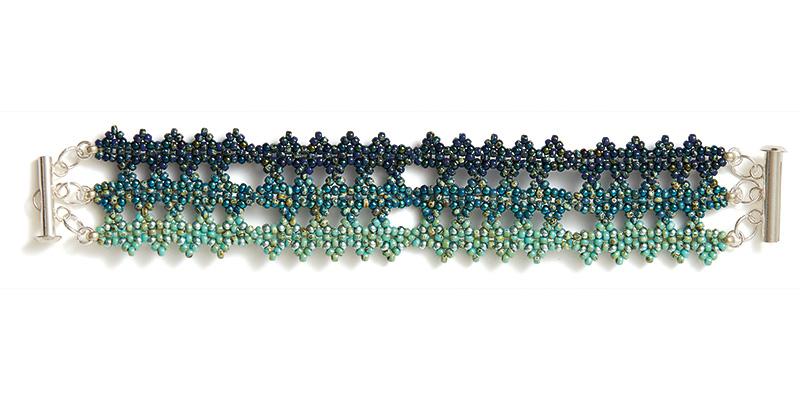 Tower of London Bracelet Blue/Green Ombré Colorway