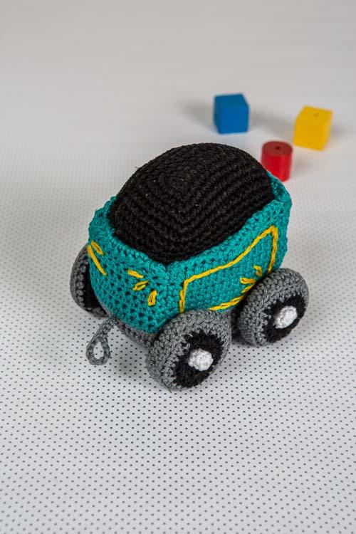 Train Coal Car Crochet Pattern