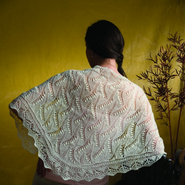 airy knitted shawls