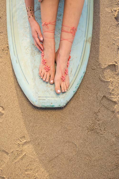 Trio of Barefoot Sandals from Interweave Crochet Summer 2016