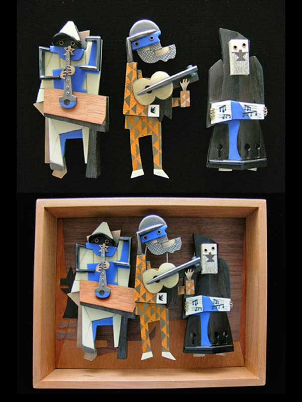 Lisa Cylinder, Scott Cylinder, Trio Box Brooches, recycled jewelry, jewelry artists