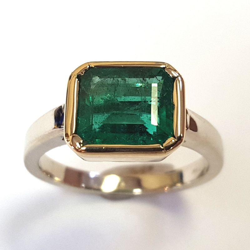 emeralds: Wearing a ring set with an emerald-cut emerald like this one would be enough to make anyone feel better. Photo courtesy Trios Studio.