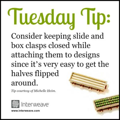 Tuesday Tip, Adding Clasp, beaded jewelry design