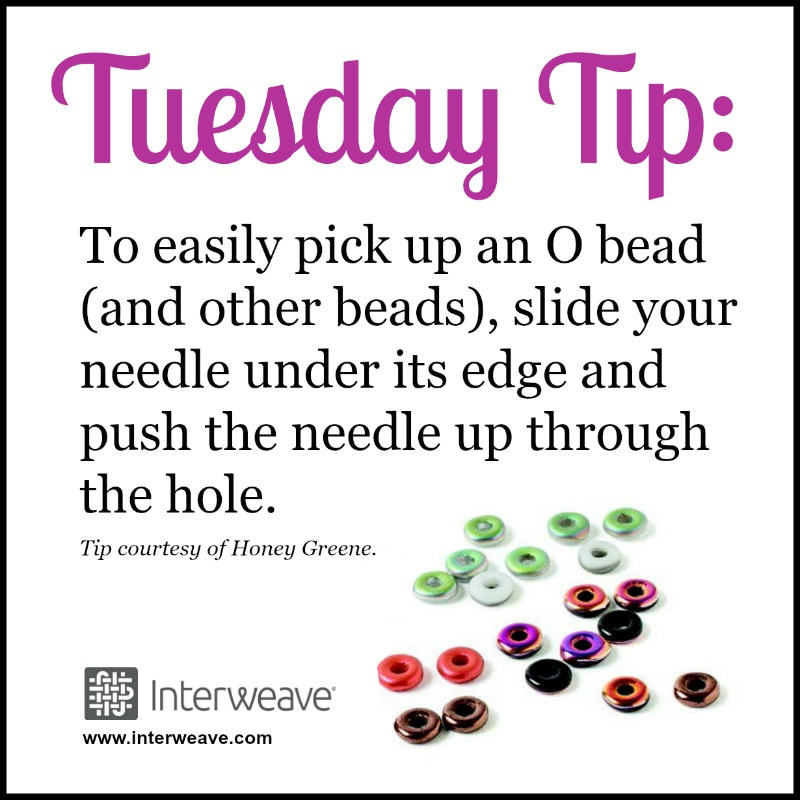 Bead Weaving: Pick Up Beads with this Quick Tip