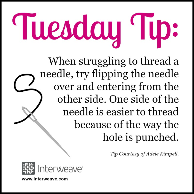 #TuesdayTip: Did you know there's a reason beading needles can be difficult to thread? Here's a tip to overcome it!