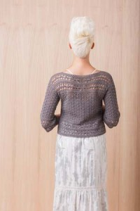 Back of Tumult Crochet Sweater