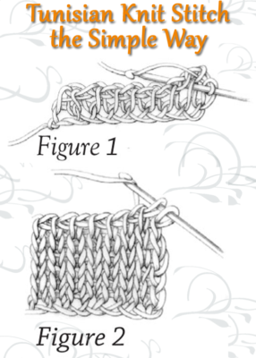 Learn how to do the Tunisian Knit Stitch the right way with this free advice page on Tunisian crochet stitches.