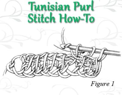 Learn how to do the Tunisian Purl Stitch the right way with this free advice page on Tunisian crochet stitches.