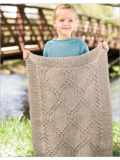 Turtle Tracks crochet blanket by Lisa Naskrent | CrochetMe.com