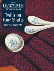 This ebook is packed with 4-shaft twill weaving projects. Learn how to weave twill, master the twill variations, and maximize the utility of your 4-shaft loom.