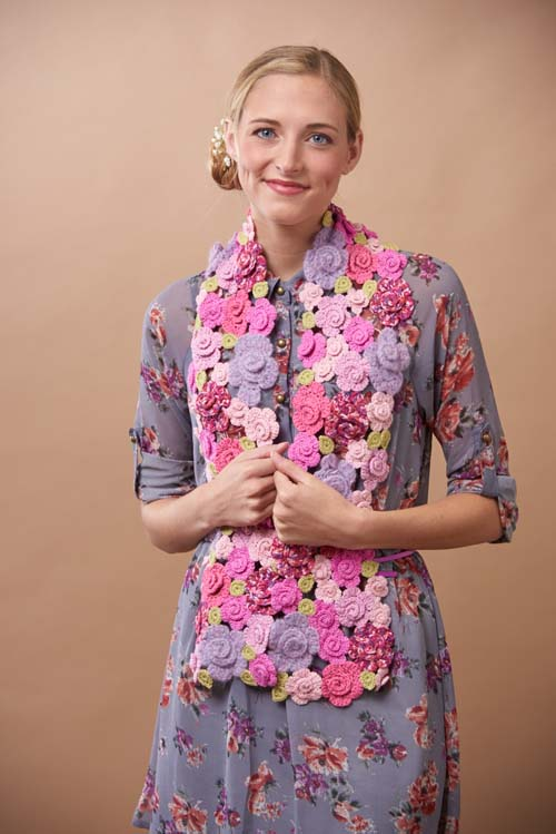 Twirly Rose Scarf Crochet Pattern