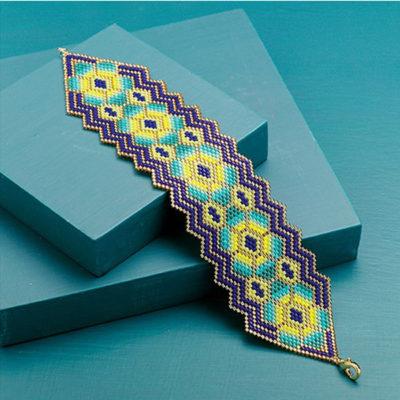 Cactus Flower Bracelet by Carole E. Hanley