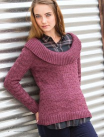 Rheems Pullover Heather Zoppetti Unexpected Cables