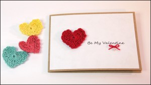 Valentine's Day Greeting Card Crocheted