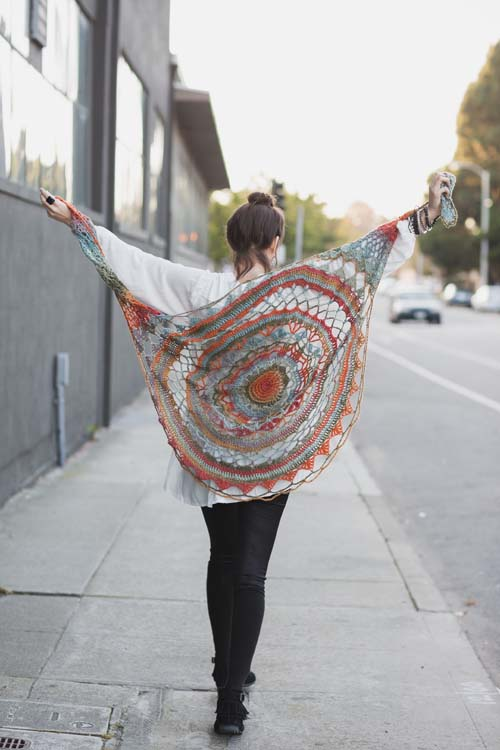 Ventura Shawl: this crochet shawl is sure to grab attention.