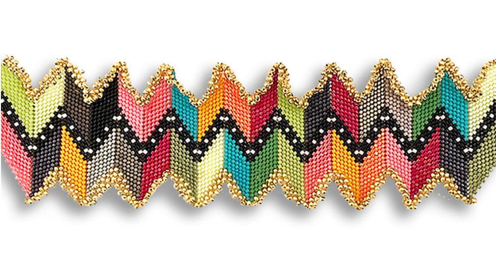 Zigzagit Bracelet by Leslie Venturoso. Photo: Courtesy of the Artist.