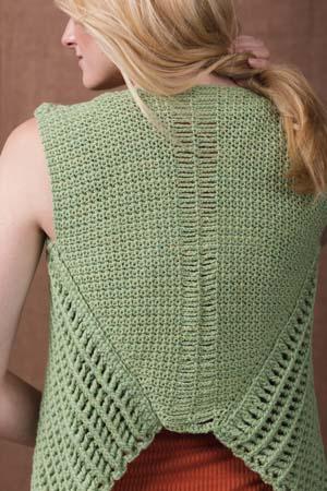 Back of Verdant Crochet Vest
