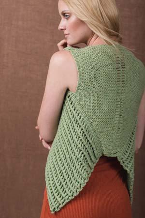 Side of Crochet Verdant Vest
