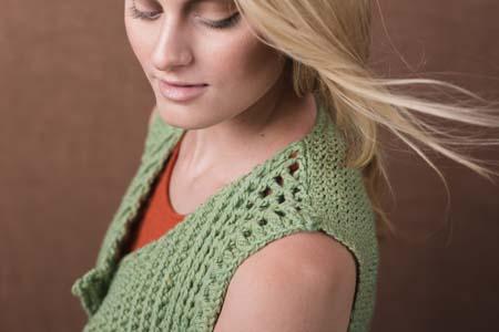 Shoulder of Crochet Verdant Vest
