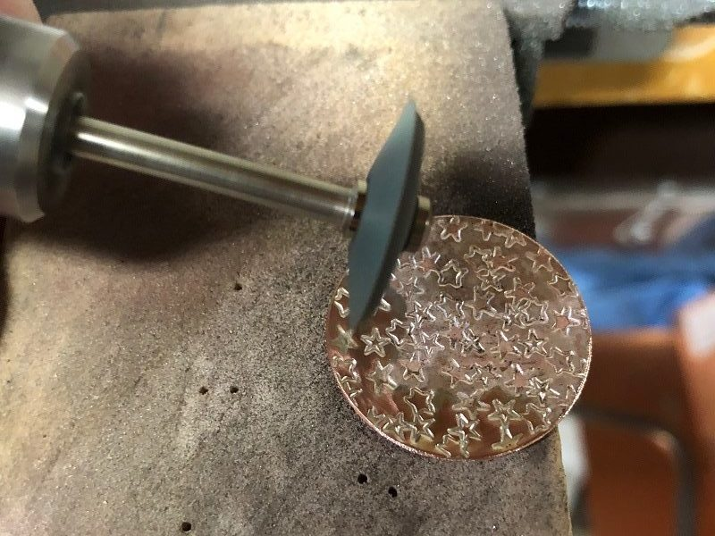 metal stamping earrings project: patriotic designs for Veteran's Day
