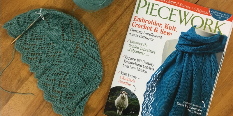 WIP Wednesday: Andrea's Santa Fe Turquoise Trail Scarf