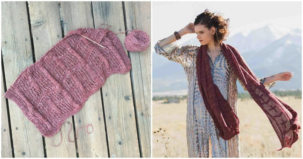 Andrea's Buena Vista Stole: An Addictive Summer Knit