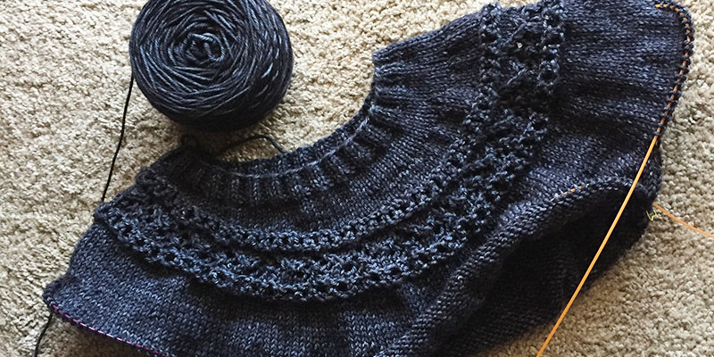 WIP Wednesday: Hannah's Banquet Sweater