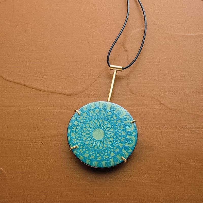 torch-fired-enamel pendant by Jo Ann Wadler