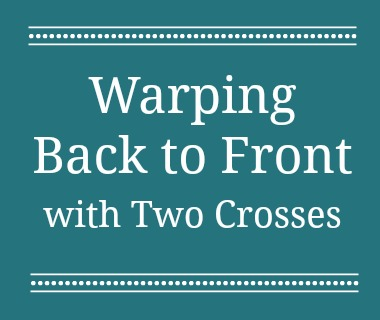 Do you know how to warp a loom when your threads are very fine, sticky, or twisted? This method for warping a loom is gentle on your warps and keeps them from getting tangled.