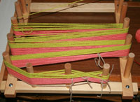 Warping board in action