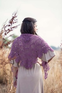 Water Lily Shawl back
