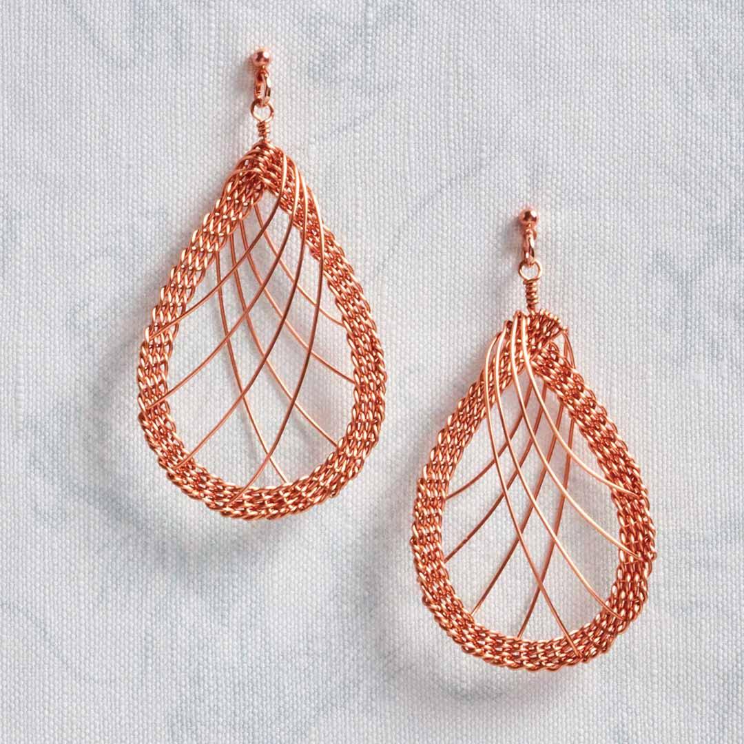 Kumihimo Wirework Made Easy: Waterfall Earrings