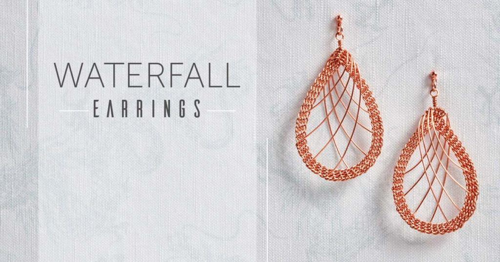 Kumihimo Wirework Made Easy: Waterfall Earrings