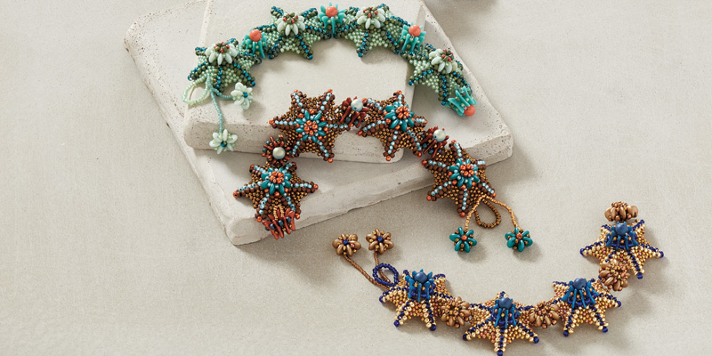 Beadwork Alternate Colorway Information for Agnieszka Watts's Aral Sea Bracelet Pattern