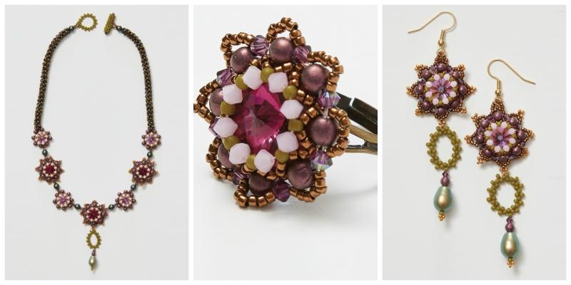 <em>Beadwork</em> Alternate Colorway Information for Agnieszka Watts's Autumn Sage Necklace Pattern