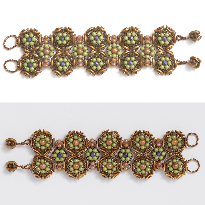 Alternate Colorway Information for Agnieszka Watts's Gardens of Eden Bracelet Pattern