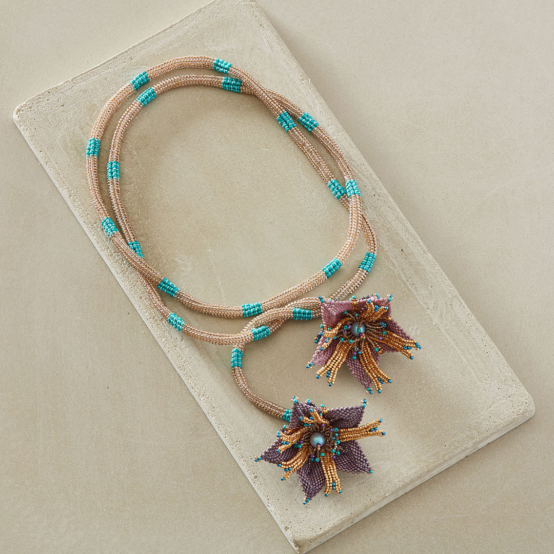 The Ocean Lily Lariat by Agnieszka Watts