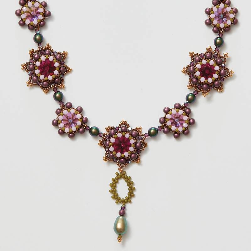 Beadwork Alternate Colorway Information for Agnieszka Watts's Autumn Sage Necklace Pattern