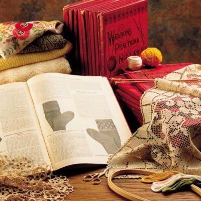 PieceWork's collection of Weldon's Practical Needlework. Photo by Mary Pridgeon.
