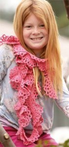 The fun Mermaid Scarf features wavy and lacy layers that are easy and creative for all ages to complete.