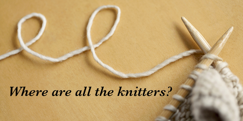 where do people knit most