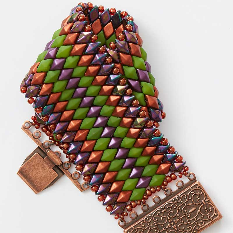 Moroccan Sunset beaded bracelets project by Shae Wilhite