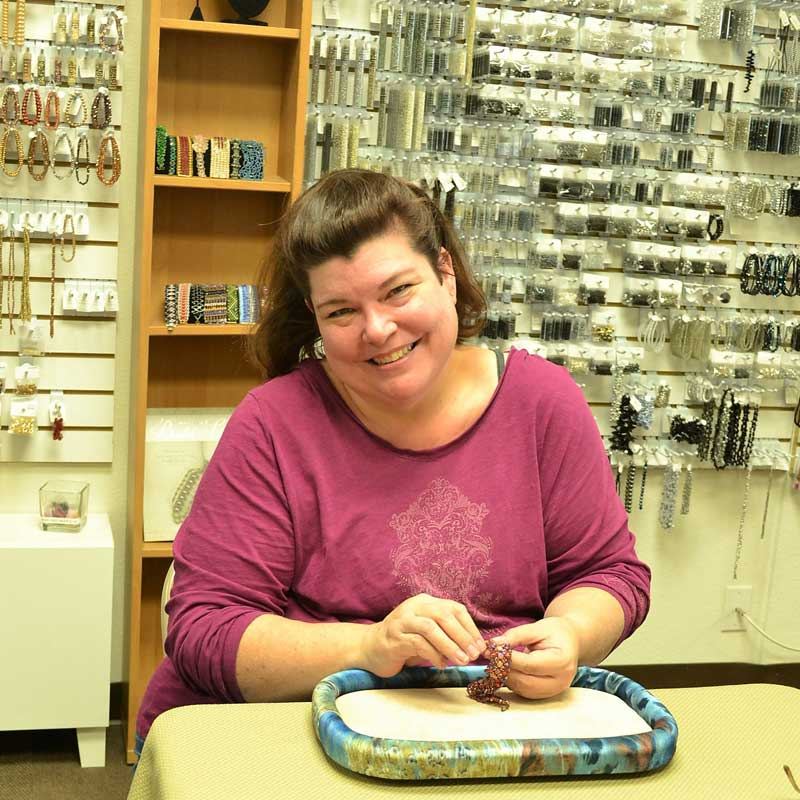 Shae Wilhite in the Studio - Her Store Sweet Beads