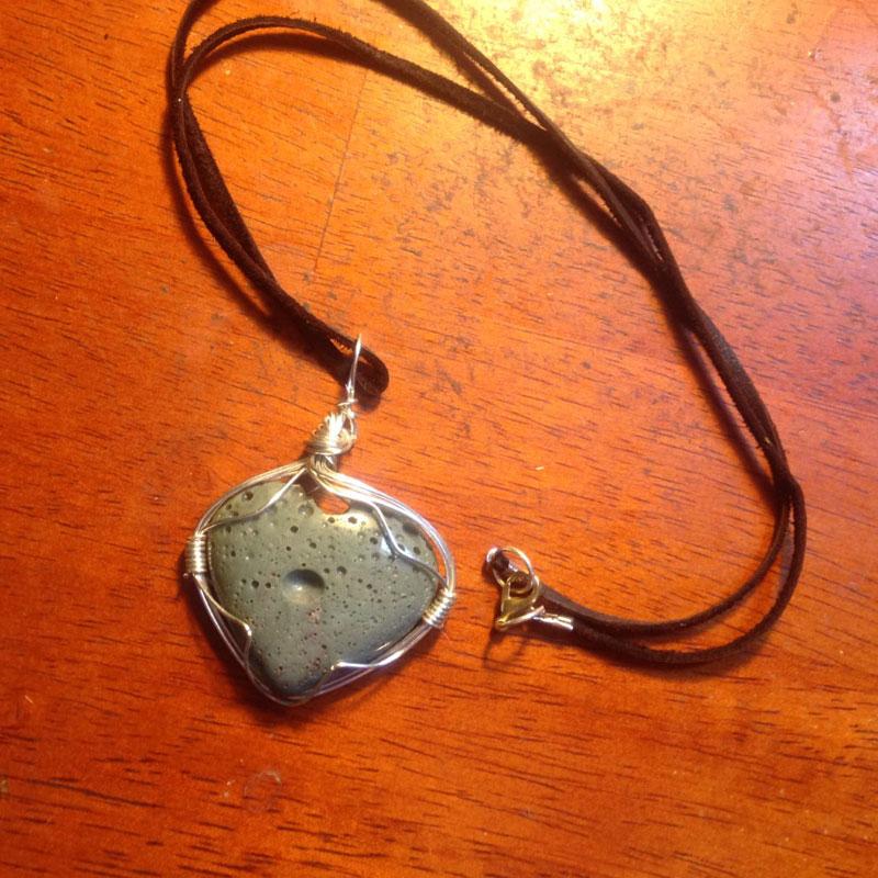 jewelry supplies: Leland Blue pendant by Karla Rosenbusch