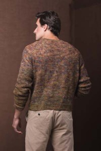 Back of Woodcutter Pullover Crochet Sweater