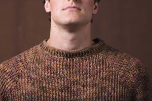 Woodcutter Pullover Crochet Sweater Close Up