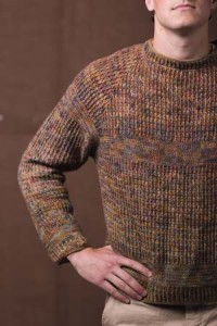 Woodcutter Pullover Sleeve of Crochet Sweater