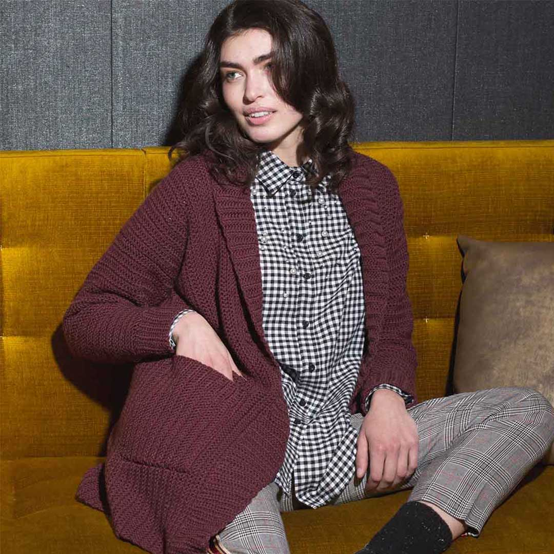 Worldly Cardigan from <em>Interweave Crochet</em> Fall 2018| Photo Credit: Harper Point Photography